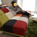 【レビュー】フランフランっぽい!パッチワーク柄おしゃれ&かわいいソファーを購入したので紹介!【楽天市場】